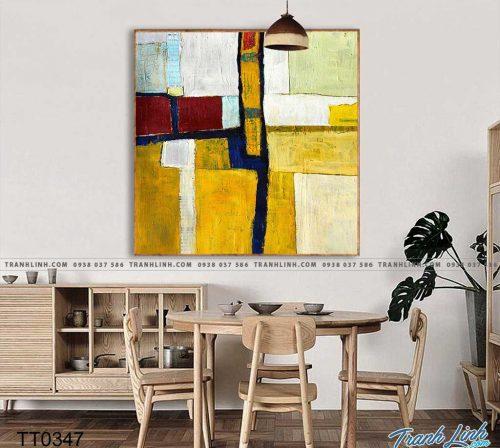 Bo tranh Canvas treo tuong trang tri phong khach truu tuong TT0347