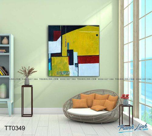 Bo tranh Canvas treo tuong trang tri phong khach truu tuong TT0349