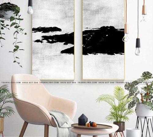 Bo tranh Canvas treo tuong trang tri phong khach truu tuong TT0352