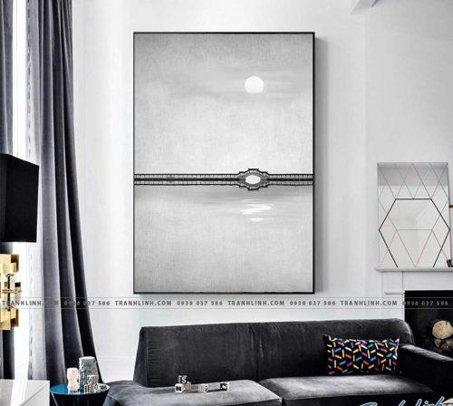 Bo tranh Canvas treo tuong trang tri phong khach truu tuong TT0354