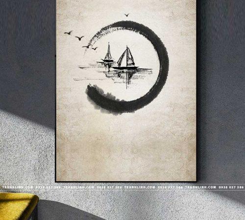 Bo tranh Canvas treo tuong trang tri phong khach truu tuong TT0355