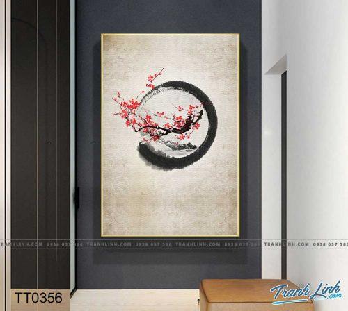 Bo tranh Canvas treo tuong trang tri phong khach truu tuong TT0356