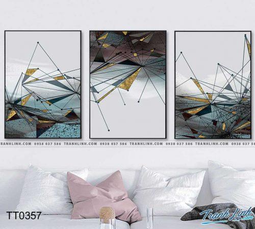 Bo tranh Canvas treo tuong trang tri phong khach truu tuong TT0357