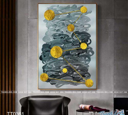 Bo tranh Canvas treo tuong trang tri phong khach truu tuong TT0361