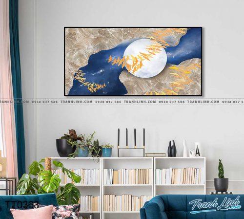 Bo tranh Canvas treo tuong trang tri phong khach truu tuong TT0363
