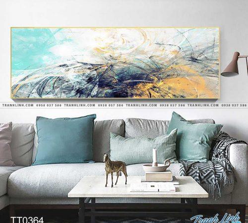 Bo tranh Canvas treo tuong trang tri phong khach truu tuong TT0364