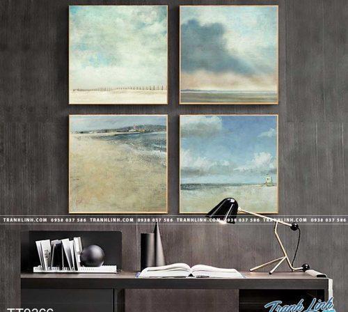 Bo tranh Canvas treo tuong trang tri phong khach truu tuong TT0366