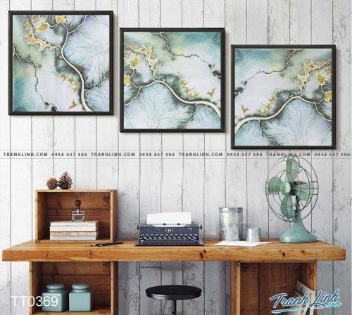 Bo tranh Canvas treo tuong trang tri phong khach truu tuong TT0369