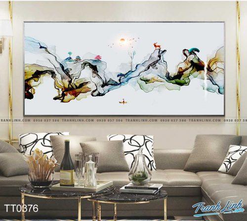 Bo tranh Canvas treo tuong trang tri phong khach truu tuong TT0376