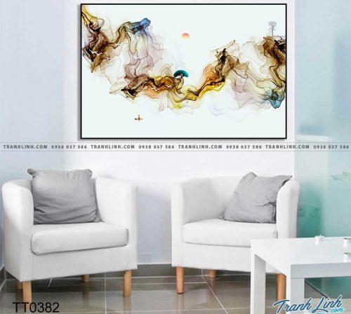 Bo tranh Canvas treo tuong trang tri phong khach truu tuong TT0382