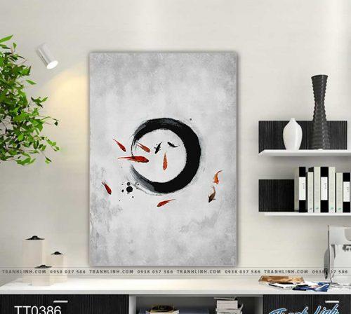 Bo tranh Canvas treo tuong trang tri phong khach truu tuong TT0386