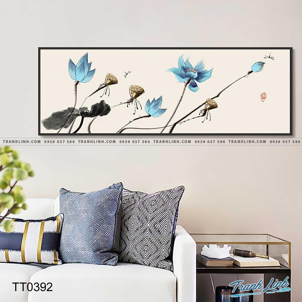 Bo tranh Canvas treo tuong trang tri phong khach truu tuong TT0392
