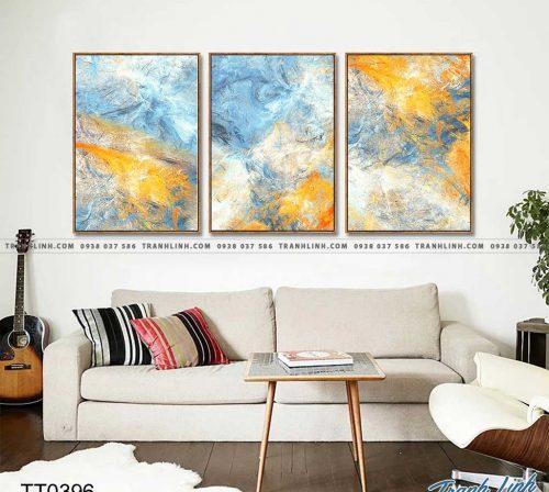 Bo tranh Canvas treo tuong trang tri phong khach truu tuong TT0396