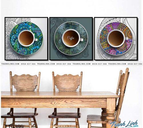 Bo tranh Canvas treo tuong trang tri phong khach truu tuong TT0399