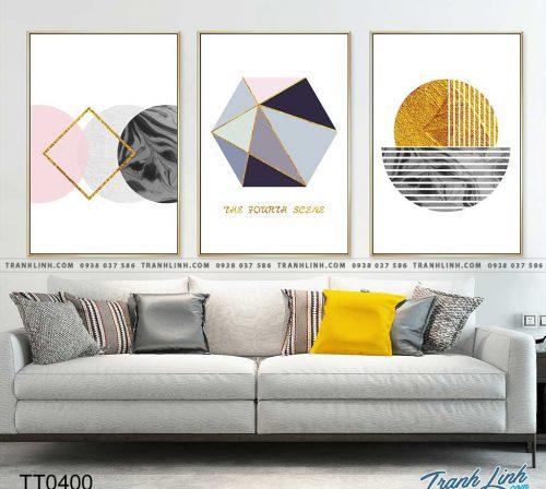 Bo tranh Canvas treo tuong trang tri phong khach truu tuong TT0400