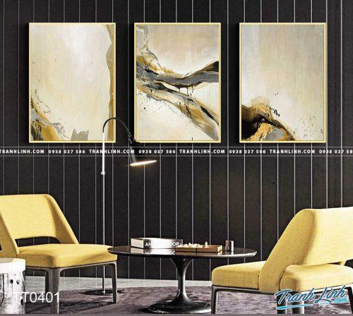 Bo tranh Canvas treo tuong trang tri phong khach truu tuong TT0401