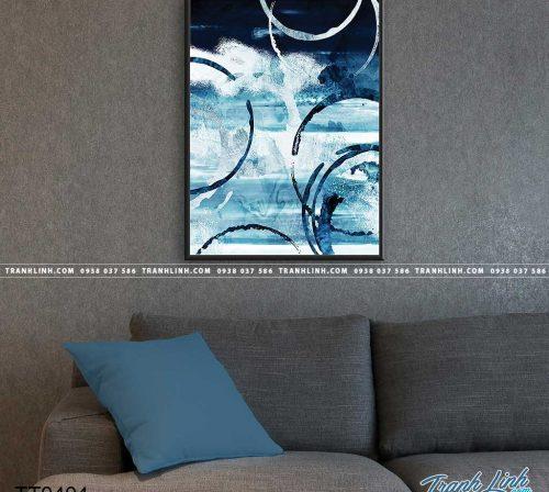 Bo tranh Canvas treo tuong trang tri phong khach truu tuong TT0404