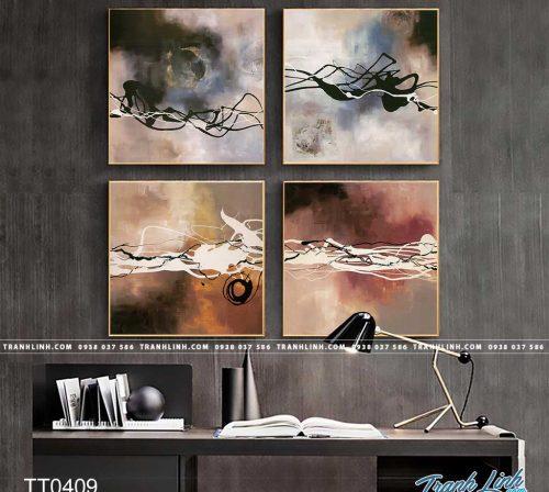 Bo tranh Canvas treo tuong trang tri phong khach truu tuong TT0409