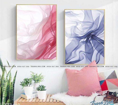 Bo tranh Canvas treo tuong trang tri phong khach truu tuong TT0410