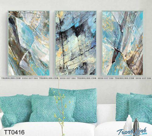 Bo tranh Canvas treo tuong trang tri phong khach truu tuong TT0416