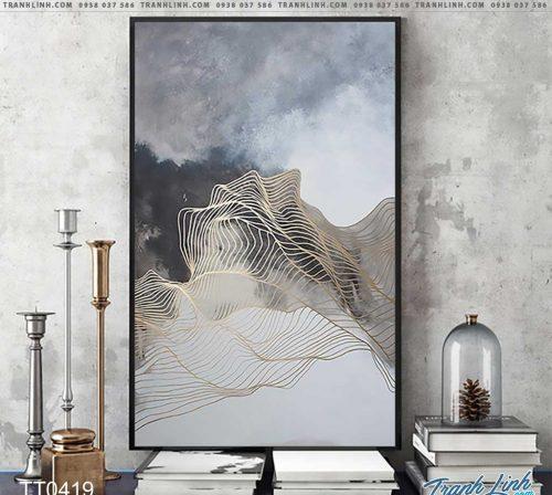 Bo tranh Canvas treo tuong trang tri phong khach truu tuong TT0419