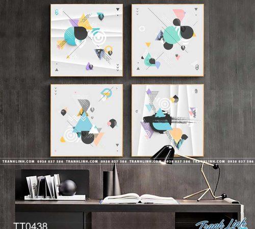 Bo tranh Canvas treo tuong trang tri phong khach truu tuong TT0438