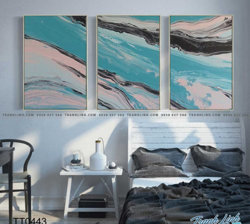 Bo tranh Canvas treo tuong trang tri phong khach truu tuong TT0443