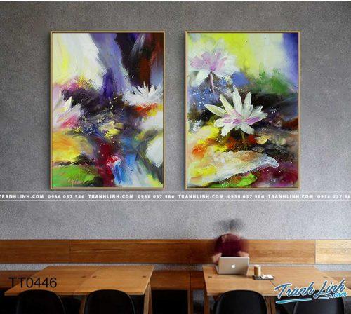 Bo tranh Canvas treo tuong trang tri phong khach truu tuong TT0446