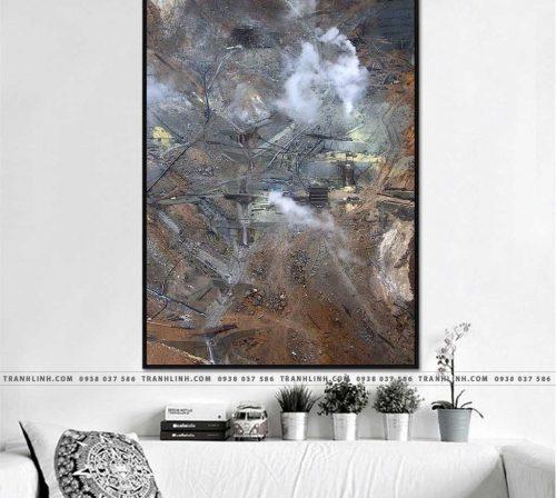 Bo tranh Canvas treo tuong trang tri phong khach truu tuong TT0452