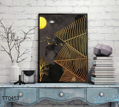 Bo tranh Canvas treo tuong trang tri phong khach truu tuong TT0453