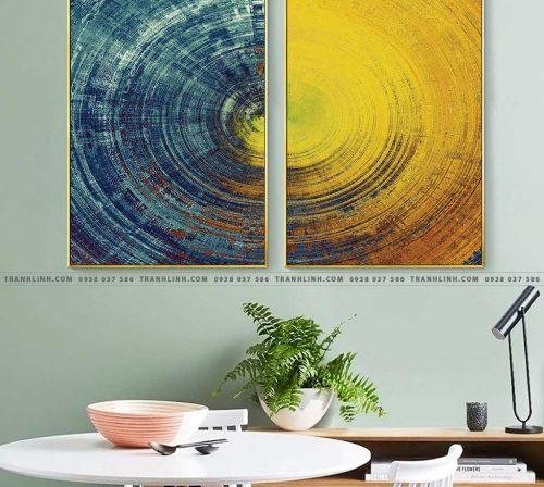 Bo tranh Canvas treo tuong trang tri phong khach truu tuong TT0454
