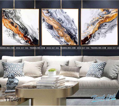 Bo tranh Canvas treo tuong trang tri phong khach truu tuong TT0461