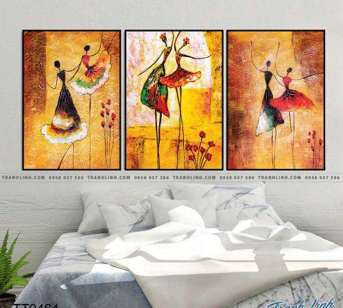 Bo tranh Canvas treo tuong trang tri phong khach truu tuong TT0464