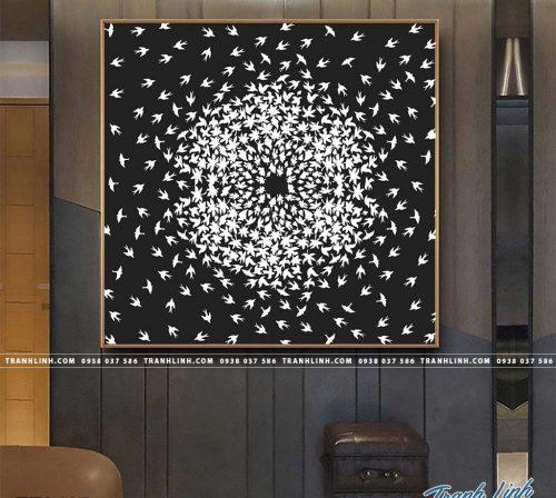 Bo tranh Canvas treo tuong trang tri phong khach truu tuong TT0467