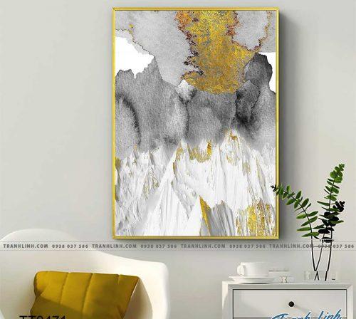 Bo tranh Canvas treo tuong trang tri phong khach truu tuong TT0471