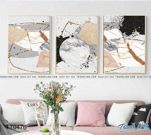 Bo tranh Canvas treo tuong trang tri phong khach truu tuong TT0476