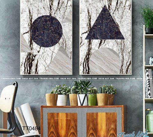 Bo tranh Canvas treo tuong trang tri phong khach truu tuong TT0484