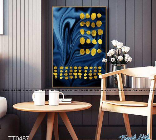 Bo tranh Canvas treo tuong trang tri phong khach truu tuong TT0487