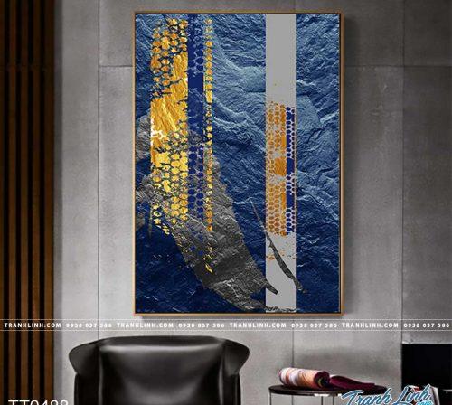 Bo tranh Canvas treo tuong trang tri phong khach truu tuong TT0488