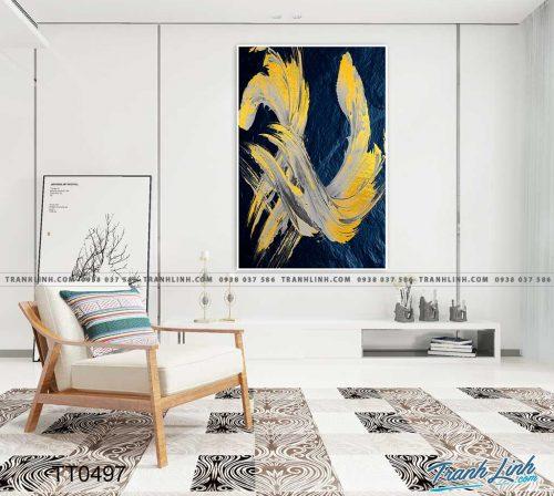 Bo tranh Canvas treo tuong trang tri phong khach truu tuong TT0497