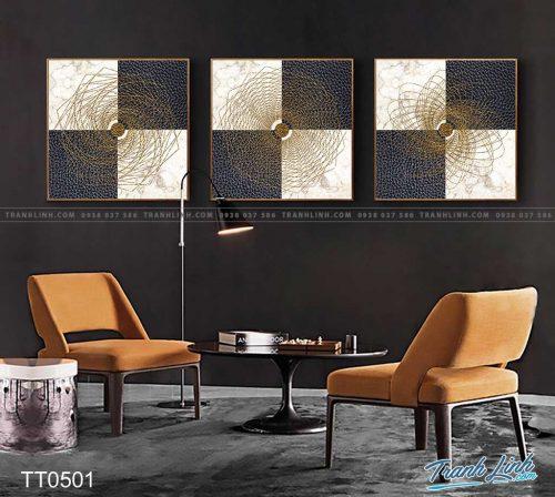 Bo tranh Canvas treo tuong trang tri phong khach truu tuong TT0501