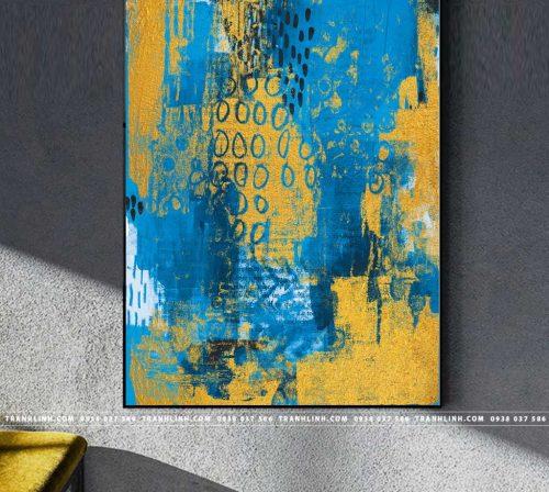 Bo tranh Canvas treo tuong trang tri phong khach truu tuong TT0506