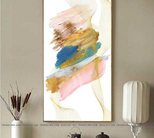 Bo tranh Canvas treo tuong trang tri phong khach truu tuong TT0507
