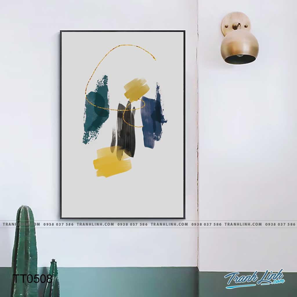 Bo tranh Canvas treo tuong trang tri phong khach truu tuong TT0508