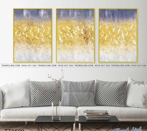 Bo tranh Canvas treo tuong trang tri phong khach truu tuong TT0509