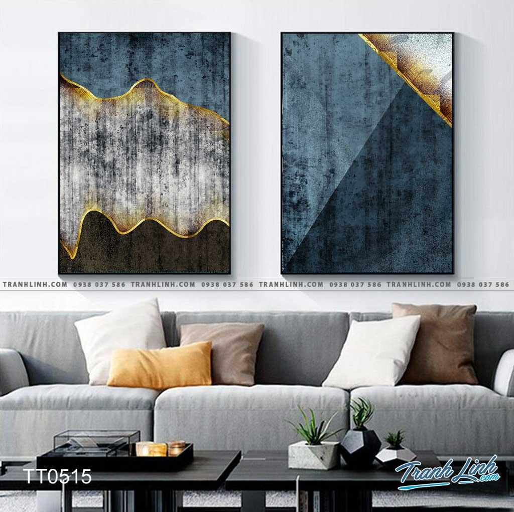 Bo tranh Canvas treo tuong trang tri phong khach truu tuong TT0515