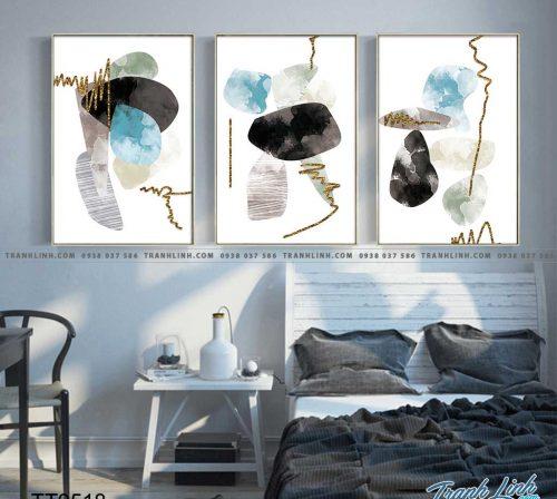 Bo tranh Canvas treo tuong trang tri phong khach truu tuong TT0518