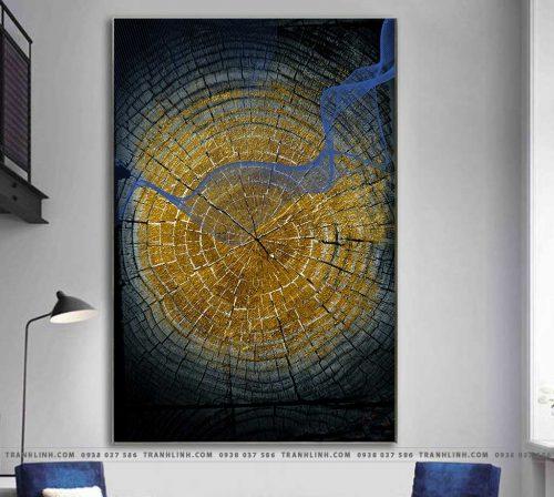 Bo tranh Canvas treo tuong trang tri phong khach truu tuong TT0520