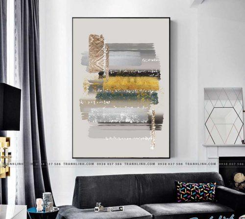 Bo tranh Canvas treo tuong trang tri phong khach truu tuong TT0522
