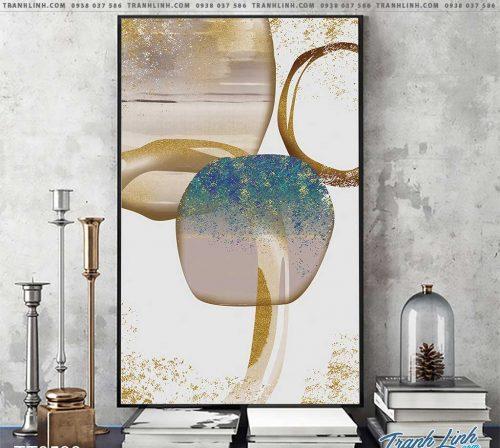 Bo tranh Canvas treo tuong trang tri phong khach truu tuong TT0530